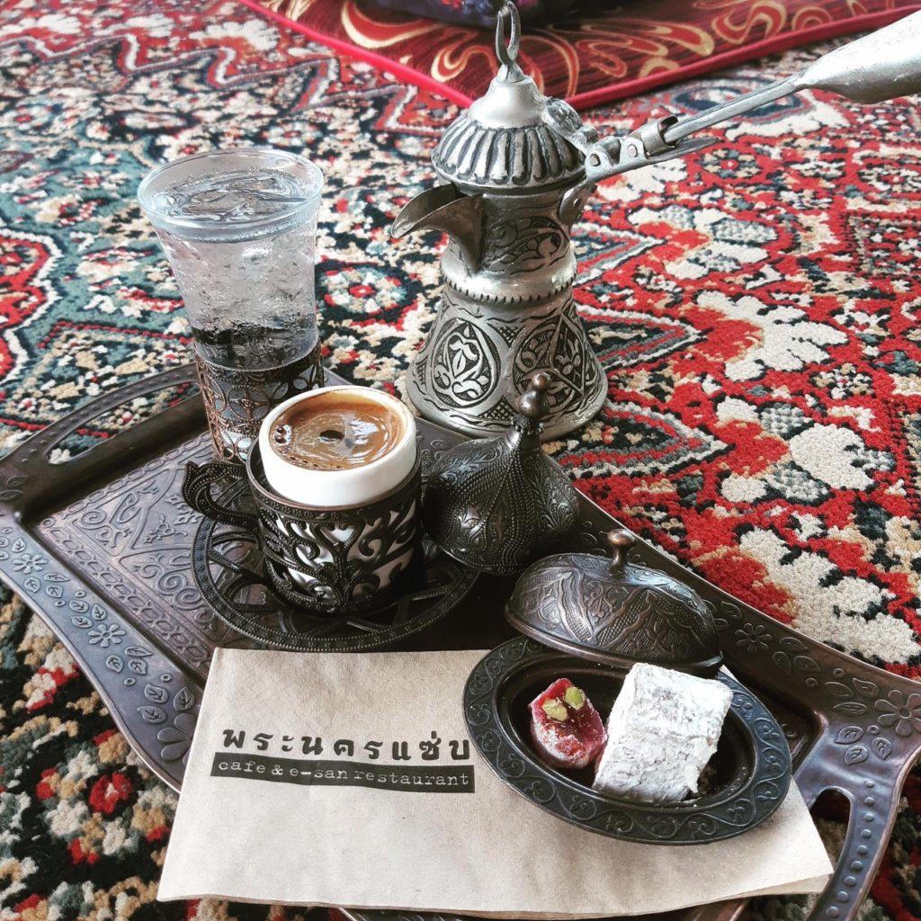 พระนครแซ่บ คาเฟ่ ร้านกาแฟสไตล์ตุรกีที่ พระนครศรีอยุธยา เมนู Coffee