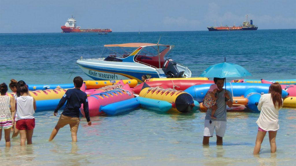 หาดนางรำ เล่นบานาน่าโบ๊ท