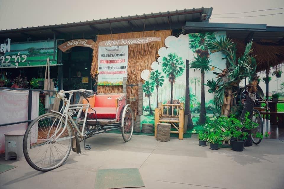 Friend Cafe กาแฟกลางทุ่ง ชมธรรมชาติที่น่าหลงใหล @ชัยนาจ ด้านข้างร้าน
