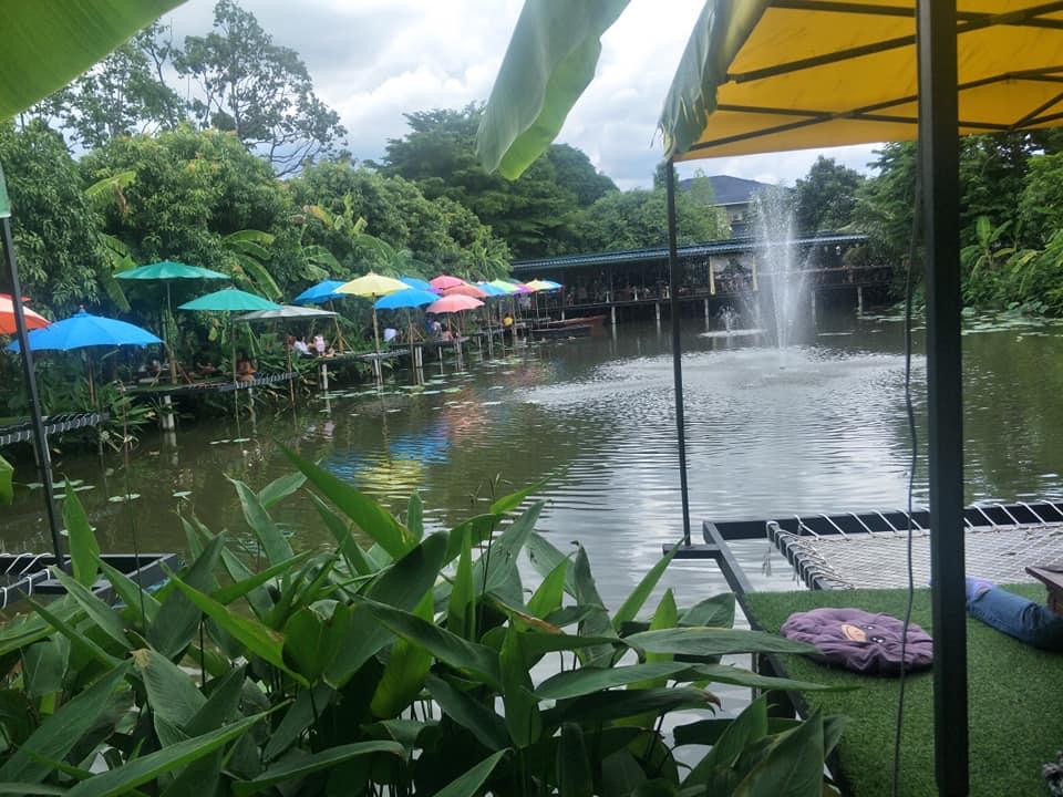 Mango 88 Cafe'  คาเฟ่ริมน้ำ กลางสวนมะม่วง  นนทบุรี