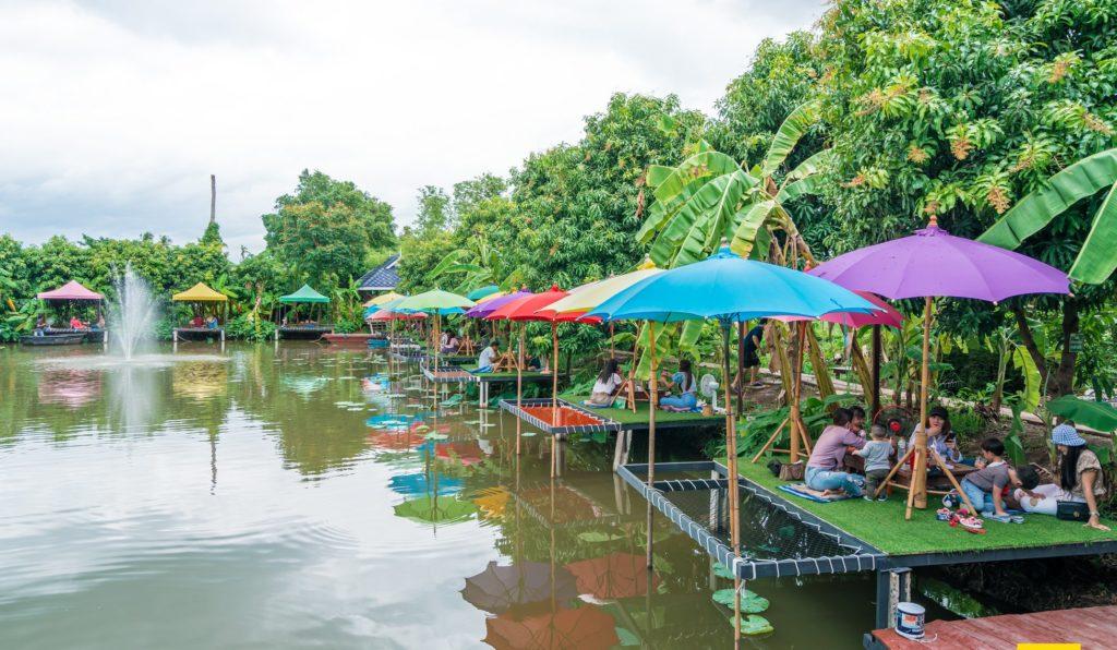 Mango 88 Cafe' & Bazaar' คาเฟ่ริมน้ำ กลางสวนมะม่วง ปากเกร็ด