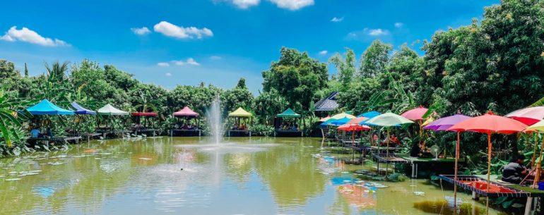 Mango 88 Cafe' & Bazaar' คาเฟ่ริมน้ำ กลางสวนมะม่วง ปากเกร็ด นนทบุรี
