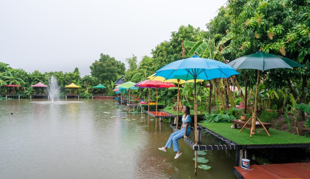 Mango 88 Cafe' & Bazaar' คาเฟ่ริมน้ำ กลางสวนมะม่วง นนทบุรี
