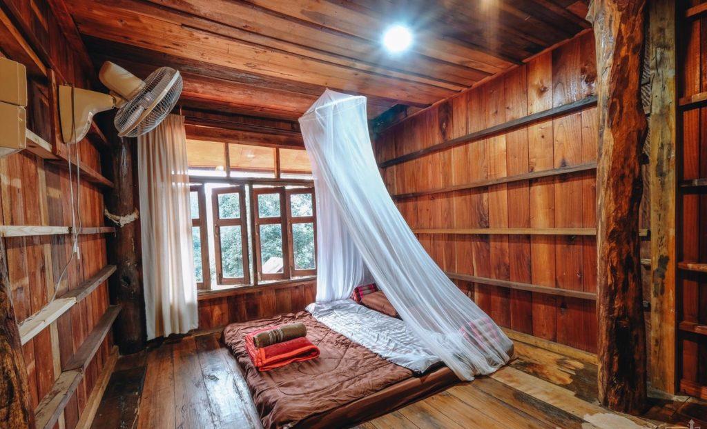 ลุงหมานโฮมสเตย์ดอยสกาด ห้องนอนวิวสวย