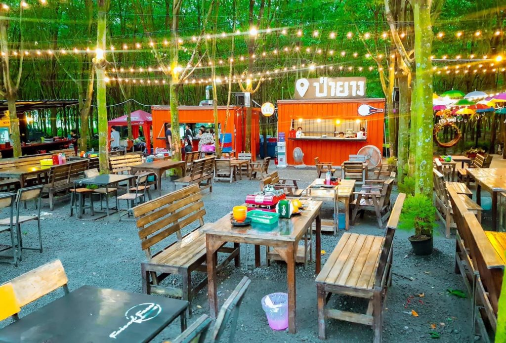 ร้าน ป่ายาง (Pa Yang) ระยอง บรรยากาศดีน่านั่ง
