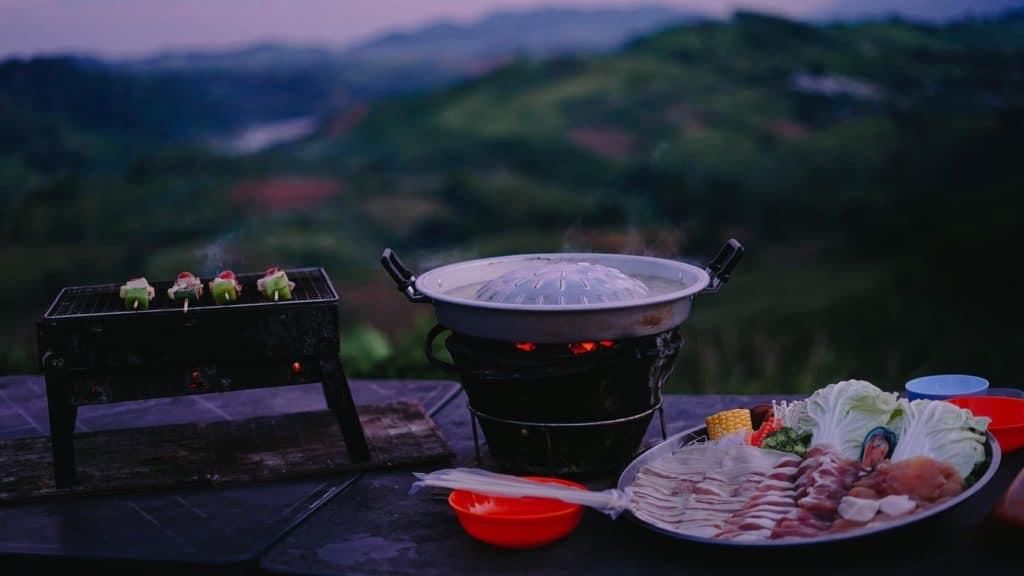 Papa Garden Khaokho บรรยากาศดีๆนั่งทานหมูกะทะกันค่ะ