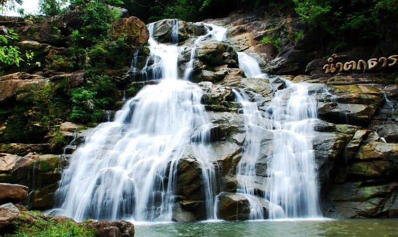 ท่องเที่ยว น้ำตกธารทิพย์ หนองคาย มาหยิบนำความสุขและความเย็นสดชื่นของสายน้ำใส