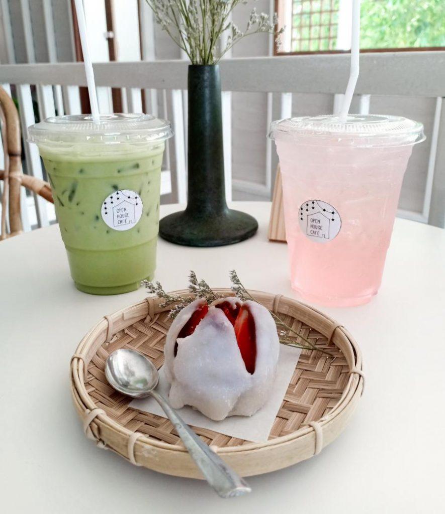 เครื่องดื่มและอาหารOpen House Cafe เป็นคาเฟ่น่ารัก ๆ สไตล์ญี่ปุ่น