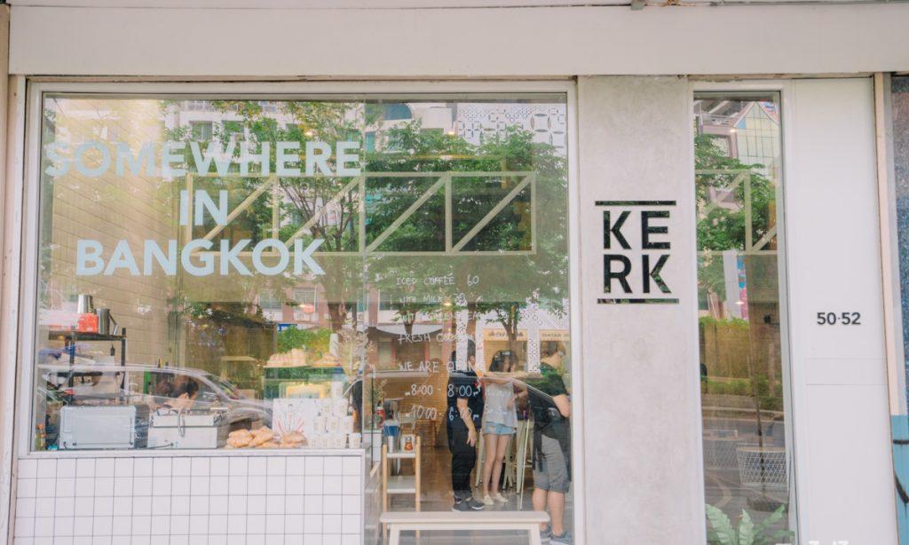 คาเฟ่โทนสีขาว Kerk Bangkok