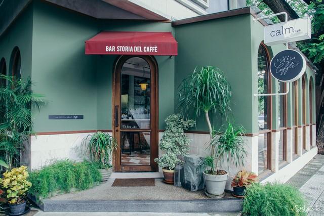Bar Storia del Caffe คาเฟ่โทนสีเขียว ตกแต่งสวย